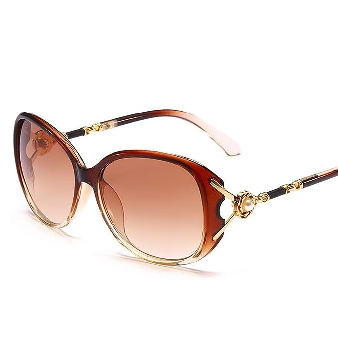 ViewHuge - Gafas de sol - para mujer Marrón marrón F: Amazon ...
