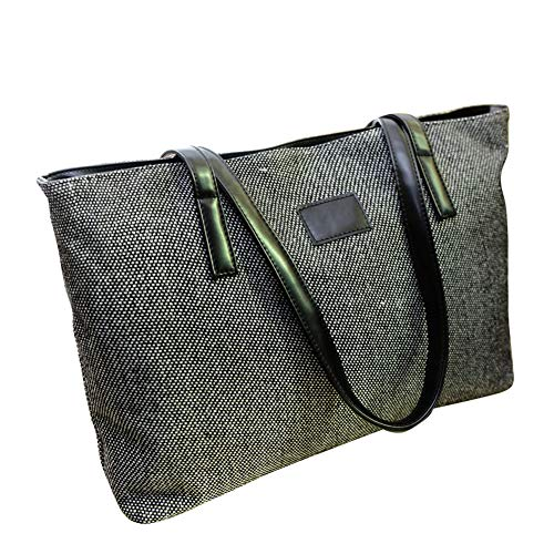 Canvas Retro Capacity Casual Single Black Large Bag FEIDA Handbags Tote Women's Shoulder Handbag 5EIAyqqFw