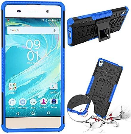 SsHhUu Funda Sony Xperia XA 5.0 Heavy Duty Amortiguamiento Cubrir Doble Capa Combinaci/ón de Armadura con Soporte Protector Cubrir Case para Sony Xperia XA F3113 Negro