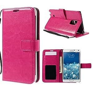 -Funda tipo cartera color rosa Samsung Galaxy Note Edge SM-N915tapa lateral función Stand