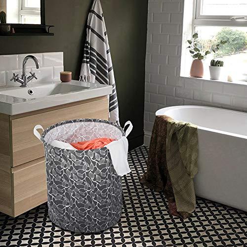 Leslily Hamper, Waterproof Canvas Laundry Hamper Clothes Basket Storage Basket Folding Bag Hamper Bag by Leslily (Image #6)