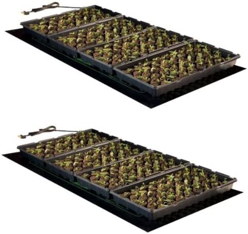 2 New HYDROFARM MT10009 48×20 107W Seedling Heat Mat Hydroponics Quality PAIR
