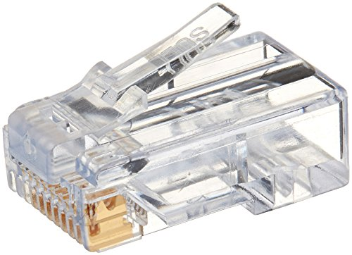 Platinum Tools 100010B EZ-RJ45 Cat6 Connector, 100-Pack