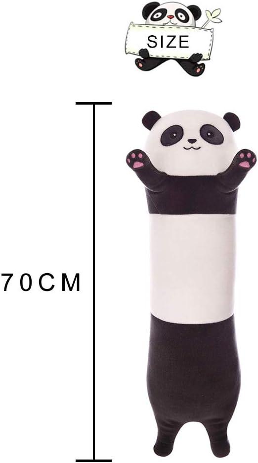 LAANCOO Peluche Panda Jouet 70CM Oreiller Long C/âlin B/éb/é C/âlin Canap/é lit d/écoration Coussin Long Oreiller Peluche