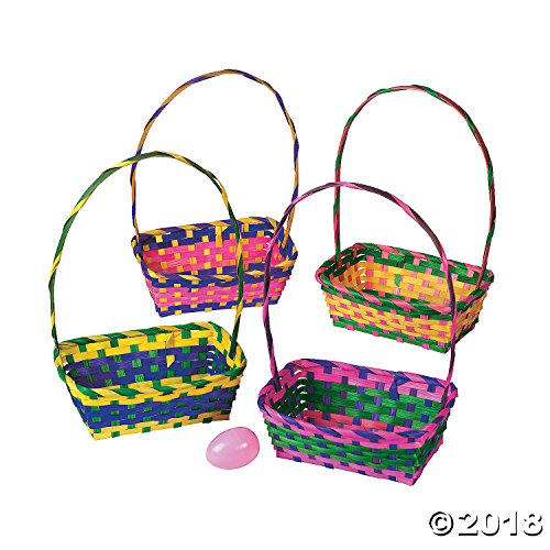 Multicolor Rectangular Easter Baskets 1 - Basket Easter Oriental