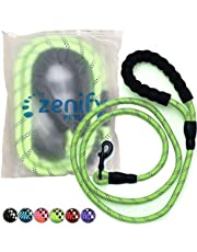 Zenify Pets Dog Lead - Durable Strong Chew Resistant Slip Lead Nylon Rope Padded Handle Mountain Climbing Harness Pet Puppy Training Slipknot Leash for Walking [1/2 inch 1.2cm Thick]