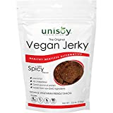 Unisoy Vegan Jerky Snacks, Vegetarian Plant Based Soy Protein Snack, The Original Meatless Healthy Jerky for Road Trips or Snacks On the Go (Mild Spicy 3-Pack) Review
