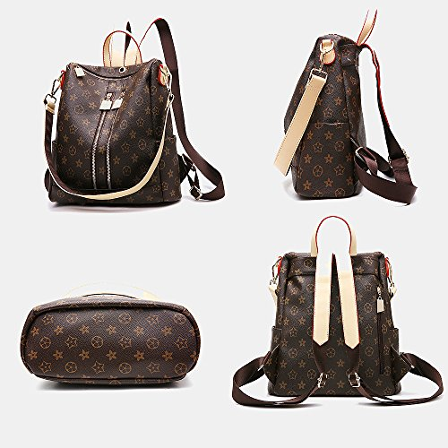 f41e08d9d208 Olyphy Designer Leather Backpack, Fashion Leather PU Daypack Casual ...