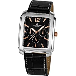 Jacques Lemans Haiti 1-1463V mm Stainless Steel Case Leather Mineral Men's Watch