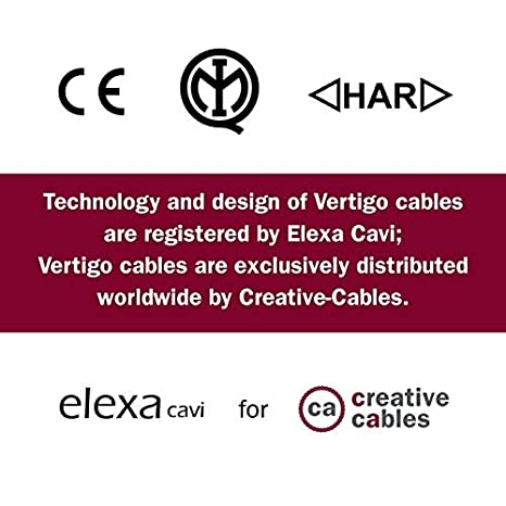Round Electric Vertigo HD Cable covered by Optical Black and Copper fabric ERM66-2x0.75 1 Meters