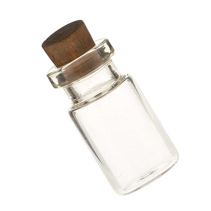 Botella De Vidrio Casa De Muñecas En Miniatura A Escala 1/12 Con El Pistón