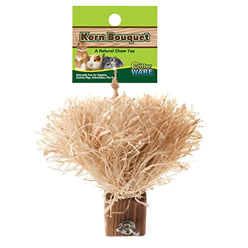 (Ware Manufacturing Natural Corn Leaf Small Pet Bouquet Chew Toy)