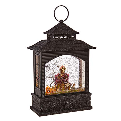 Lighted Halloween Lantern Snow Globe