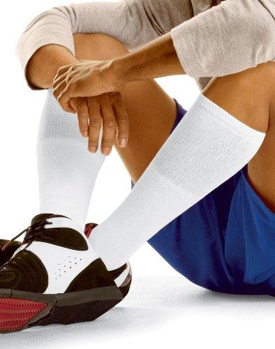 Mens Hanes 6 Pair Over-the-Calf Tube Socks - 180/6 White 10 - 15 (Socks Hanes Tube Mens)
