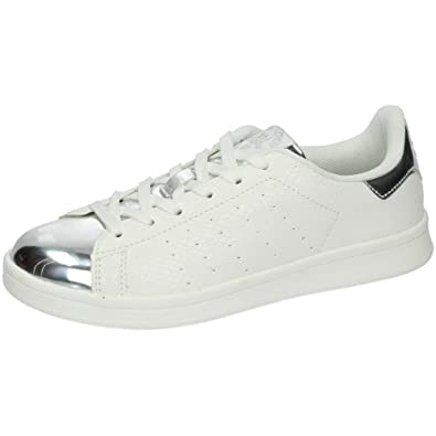 XTI 46368 Bambas Blancas Mujer Deportivos Blanco-Plata 40: Amazon.es: Zapatos y complementos