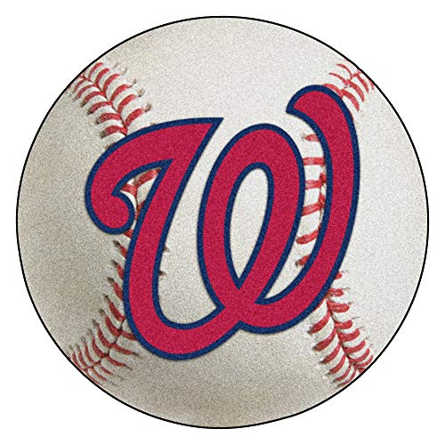 - FANMATS MLB Washington Nationals Nylon Face Baseball Rug