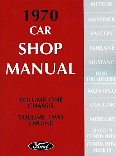 1970 Ford Lincoln Mercury Service Shop Manual Set 5 Vol (5 volume set)