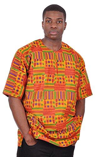 Dupsie's Kente African Print Dashiki Shirt (XL) by Dupsie's