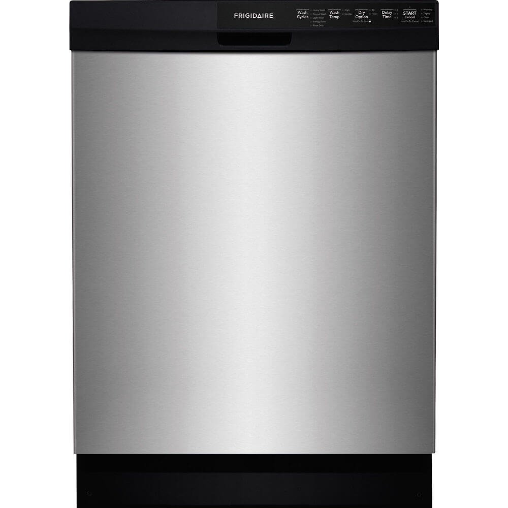 Frigidaire FFBD2412SS 24' Built-In Dishwasher with 14 Place Setting Energy Saver Plus Cycle SpaceWise Silverware Basket and Delay Start in Stainless