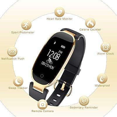 Fitness Tracker, LEMFO Heart Rate Monitor Women Swimming Waterproof Ladies Activity Tracker Smartband Sleep Monitor Pedometer Smart Bracelet Wristband