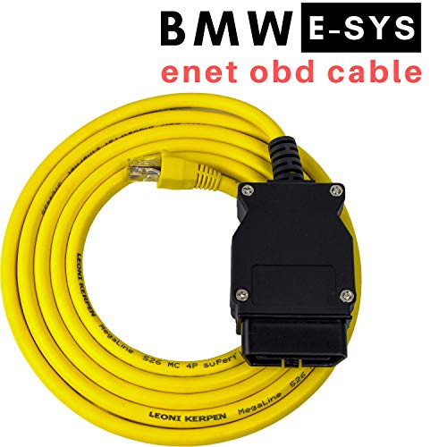 OHP ENET OBD to Ethernet E-SYS Cable | RJ45 to 16 Pin Diagnostic CAT5e OBD2  for Coding F-Series, 1 Series, 3 Series, 5 Series, GT, X3 & G-Series | 5