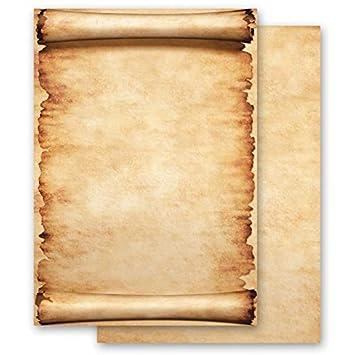 Carta da lettera decorati PERGAMENA 100 fogli formato DIN A5 Paper-Media