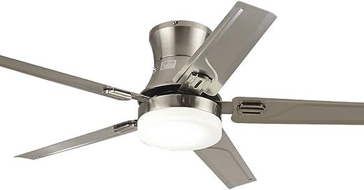 Luces de ventilador de acero inoxidable Ventilador de techo Luz de ...