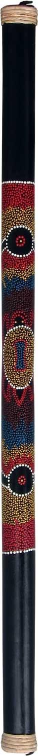 Bamboo Rainstick with Painted Aboriginal Turtle Design