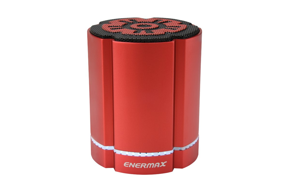 ENERMAX EAS02S-R Simultaneous Pairing Function Equipped Bluetooth Speaker Stereosgl Red