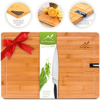 Bamboo Cutting Board   Large Wood Chopping Board For Meat And Cheese By Eco  President U2013