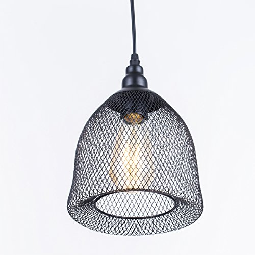 ZHMA Loft Vintage Edison Retro Pendant Lights, Iron Metal Reticular Lamps Fixtures, Shades E27 Socket Led Bar Aisle Cafe Dining Room