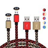 2 Pack PS4 Controller Charging Cable,Zwirelz Charging Cable for Xbox One Controller Nylon Braided Sync Cord Charger for Playstation 4 Dualshock 4 PS4 Slim/Pro, Samsung Galaxy S7 Edge HTC (Red+Yellow) For Sale
