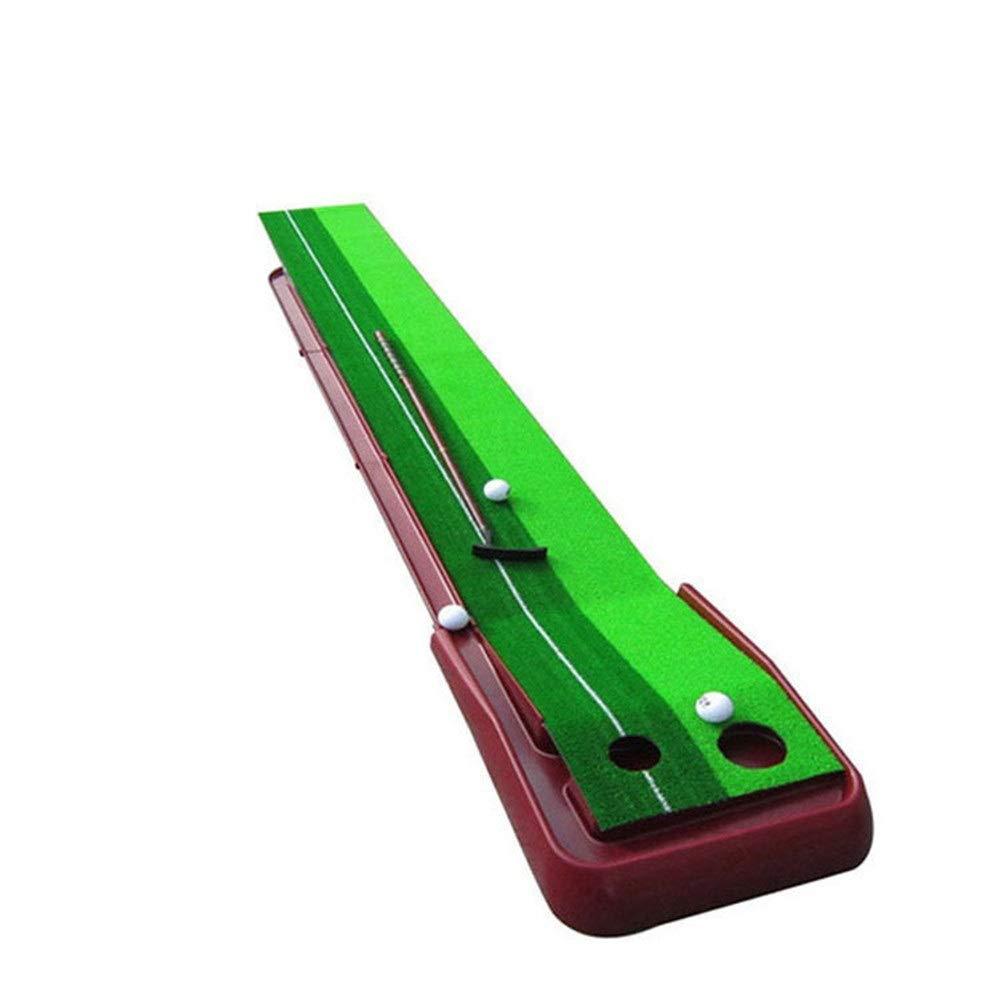 ゴルフマット ミニゴルフ練習トレーニング補助ポータブルゴルフパッティング練習ゴルフ屋内外のパットパッド練習セットオフィス 室内グリーン (色 : 赤 褐色, サイズ : 30cm×250cm) 赤 褐色 30cm×250cm