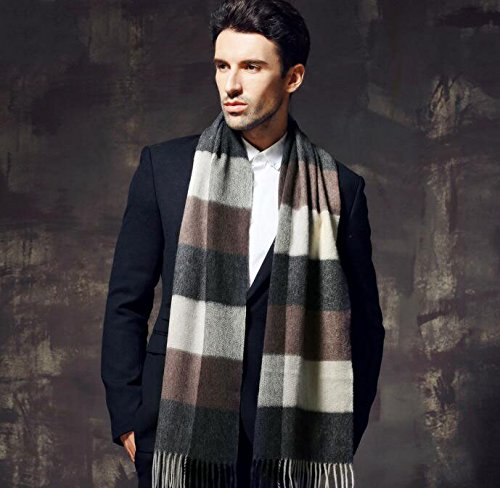 Men's thickening wool scarf, cashmere scarf in winter by KYXXLD