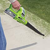 Earthwise LB20020 20-Volt Lithium Ion Cordless Electric Single Speed 130 MPH Leaf Blower