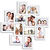 photo collage frames large - Jerry & Maggie - Photo Frame 24x24 Square Storm Eye White PVC Picture Frame Selfie Gallery Collage Wall Hanging for 6x4 Photo - 12 Photo Sockets - Wall Mounting Design