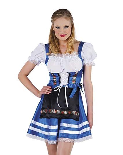 De octubre de disfraz de tirolesa madl de colour azul con ...