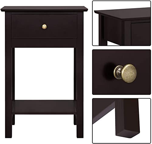 Yaheetech Bedside Table Cabinet Nightstand