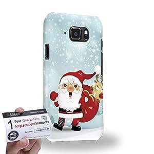 Case88 [Samsung Galaxy S6 Active] 3D impresa Carcasa/Funda dura para & Tarjeta de garantía - Art Navidad Classics Santa Claus