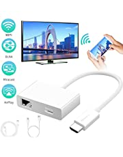Wireless Display Dongle, FAERSI 1080P Portable 4K HDMI Wifi Display Receiver, Support for IOS/Android/Windows/Pixel/Laptops/Projector(Plug and play)