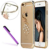 Diamond Frame Case for iPhone 6S Plus,iPhone 6 Plus Cover, EMAXELER Bling Swarovski Crystal Rhinestone Case,Plating Frame Flexible TPU Case for iPhone 6 Plus/6S Plus(5.5