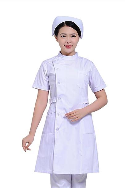 Xuanku Enfermera Enfermera Parcial Led De Manga Corta Ropa De Invierno Verano Servicio De Belleza Farmacia