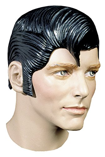 UHC Elvis Greaser Sideburns Flash Rubber Latex Wig Halloween Costume Accessory]()
