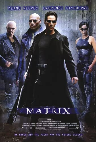 Amazon.com: The Matrix Poster 27x40 Keanu Reeves Carrie-Anne Moss ...
