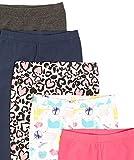 Spotted Zebra Girls' Toddler Leggings, 5-Pack