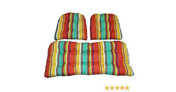 Designer Indoor//Outdoor Pillow Set Green Animal, Green Stripe /& Blush Lemon Tree RSH D/écor Set of 3
