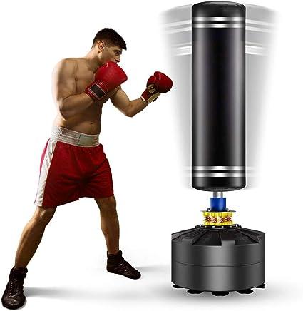 Fitness YUJISO Sac de Frappe sur Pied pour Enfant Adulte Sac de Boxe Lourds Gonflable Autoportant 160 cm Punching Ball Enfant pour Taekwondo Karat/é