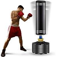 Kitopa Saco de boxeo de pie libre, soporte para saco de boxeo pesado con base de ventosa para adultos y jóvenes hombres…