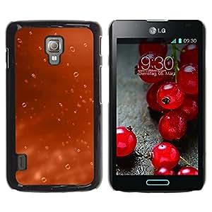 Be Good Phone Accessory // Dura Cáscara cubierta Protectora Caso Carcasa Funda de Protección para LG Optimus L7 II P710 / L7X P714 // Water Drop Orange