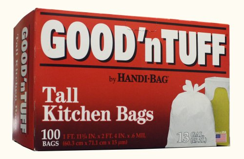 Good 'N Tuff Flap Tie Tall Kitchen Bags by AEP Industries Inc., 13 Gallon size (Pack of 100) by Webster